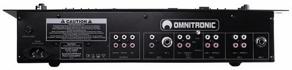 OMNITRONIC POISTUNUT TUOTE..SM-240 Sound-Mixer, 4+1-channel (3x phono, 4x line, 2x mic), 2x 5-band-equalizer