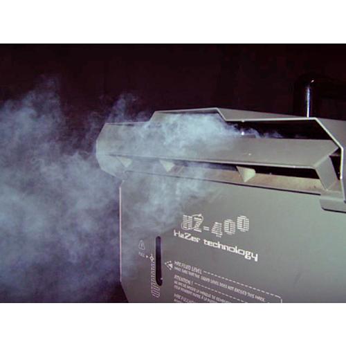 ANTARI HZ-400 Hazer usva kone, aito hazer ammattikäyttöön, DMX-ohjaus, ajastinohjain! Tämä hazer on tarkoitettu ammattikäyttöön. nesteen kulutus on erittäin pieni. 16- tuntia jatkuvaa käyttöä yhdellä litralla! Mitat 500 x 330 x 330 mm sekä paino 18kg.