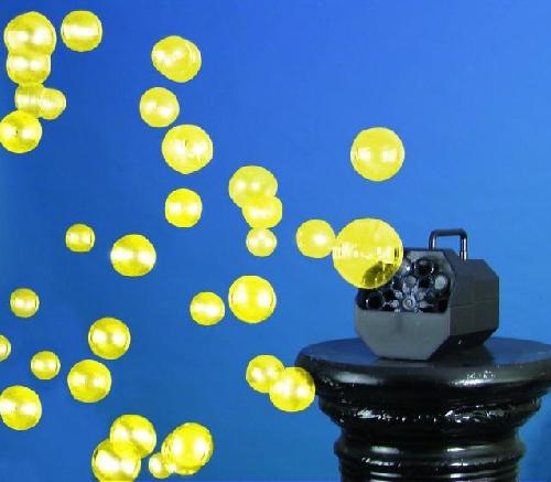 EUROLITE UV-Saippuakuplaneste 5 litraa, keltainen UV-valossa hohtava keltainen. Saippuakuplaneste luo tavallisia saippuakuplia. Yleisvaatimukset täyttävä, kaikkiin saippuakuplakoneisiin yhteensopiva. Sopii discoihin, bileisiin ja konsertteihin.
