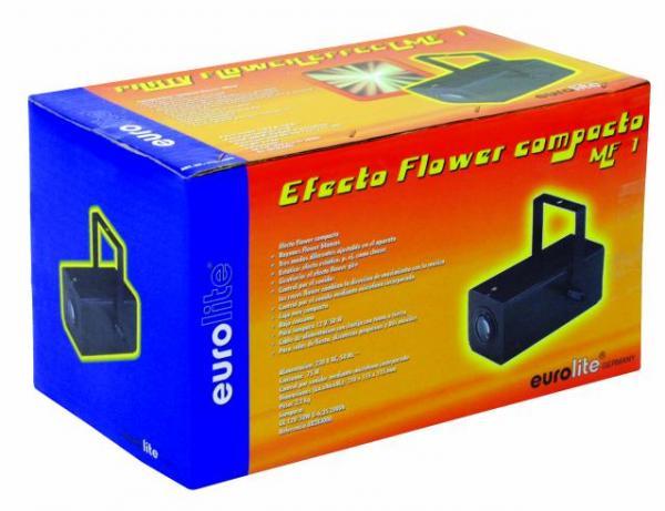 EUROLITE MF-1 Miniflower color, 12V/50W. Mahtava sekä värikäs flower valoefekti kotiin tai bileisiin.