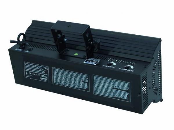 EUROLITE DMX Super Strobe 2700 1500W, Erittäin tehokas DMX strobe, Uusi Päivitetty Versio!- ohjaus (2 kanavaa) kirkkaus ja välähdysnopeus. kirkkaus portaattomasti säädettävissä (0-100%).<br /> Välähdyksen nopeus portaattomasti säädettävissä (1-12 välähdystä/sek.). Elektroninen virranhallinta. Synkronoitavissa 3-pin XLR-liittimeen. Sisältää polttimon. Toimii myös ilman ohjainta.