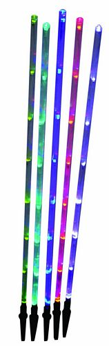 EUROLITE LED Valotikku setti, 5 kpl 80 cm Led Puutarha valaisin, Lightstick Set 5 colours, IP44, Absolute eye catcher for any garden!