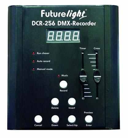 FUTURELIGHT DCR-256 DMX-Recorder DMX Ohj, discoland.fi
