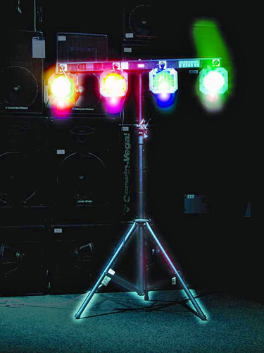 EUROLITE DTB-405 4 x 1150W  Light Dimmer Bar, 16 pre-programmed chaser-patterns, Himmennin Puomi valmiilla ohjelmilla, Esim. Par 56 tai 64 heittimille