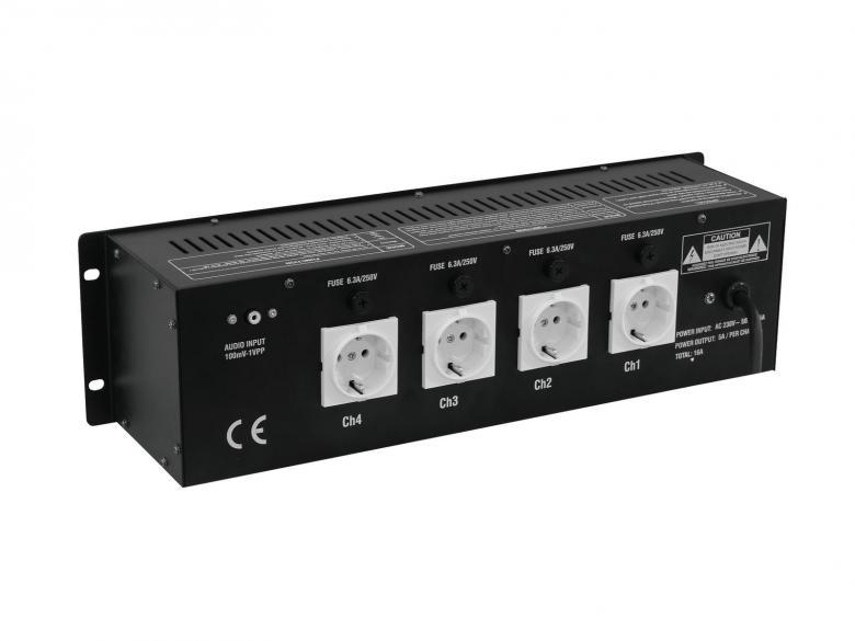 EUROLITE LCD-4/S Valo-ohjain neljä kanavainen 4x 1000W. Tällä ohjaimella himmennys sekä juoksutukset käyvät helposti. Voit kytkeä laitteen myös musiikkiohjaukselle. Käytetään usein par heittimien himmennykseen sekä juoksutukseen. 19