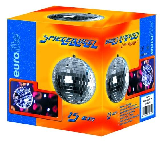 EUROLITE 15cm Peilipallo eli discopallo korkealaatuinen. Sopii koti- ja ammattikäyttöön. Ilman pyöritysmoottoria, jonka voi hankkia erikseen, katso yhteensopivat tuotteet.