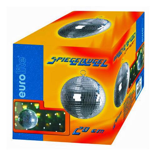 EUROLITE 20cm Peilipallo eli discopallo on korkealaatuinen. Sopii koti- ja ammattikäyttöön. Ilman pyöritysmoottoria, jonka voi hankkia erikseen, katso yhteensopivat tuotteet.