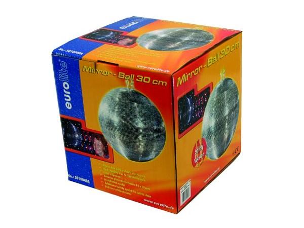 EUROLITE 30cm Peilipallo eli discopallo korkealaatuinen. Sopii koti- ja ammattikäyttöön. Peilit 10mm paloja sekä paino 1,85kg. Ilman pyöritysmoottoria, jonka voi hankkia erikseen, katso yhteensopivat tuotteet sekä paketoidut tuotteet.