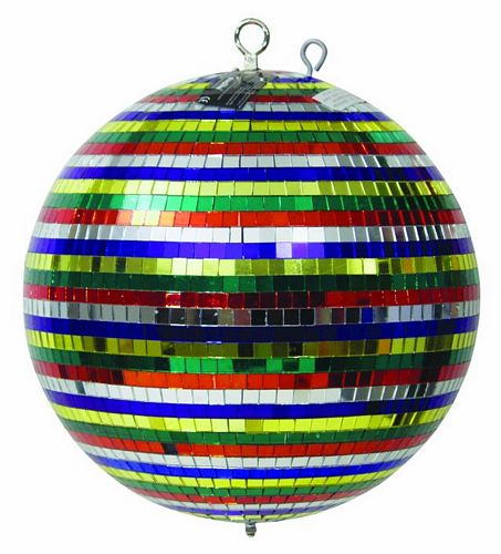 EUROLITE Peilipallo/ Discopallo, Monivärinen 30cm, Multicolored mirror ball 30cm in a colour box