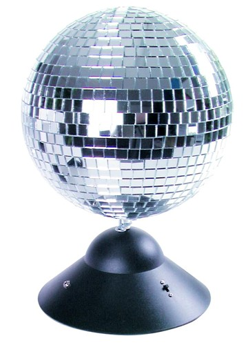 EUROLITE Loppu!!Mirror ball with base an, discoland.fi
