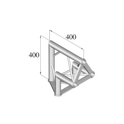 ALUTRUSS TRISYSTEM 2-tie kulmapala 90° /\ PAC-24. 2-way corner piece
