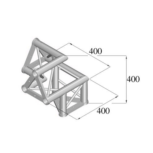 ALUTRUSS TRISYSTEM 3-tie kulmapala /\ oikea PAL-31. 3-way corner piece