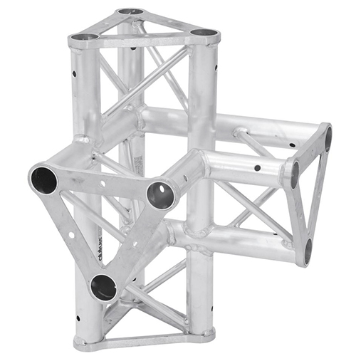 ALUTRUSS TRISYSTEM 4-tie risteyspala \/ l+h PAC-45. 4-way cross piece