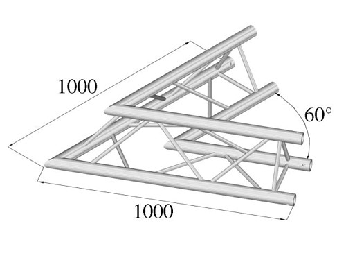 ALUTRUSS TRILOCK QPAC-20 2-way corner 60°