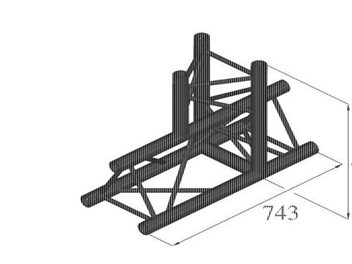 ALUTRUSS TRILOCK QPAT-37 3-way T-piece