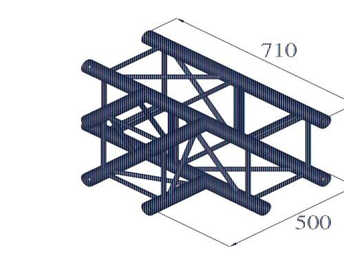 ALUTRUSS QUADLOCK QQT-35 3-way-T-piece
