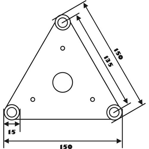 ALUTRUSS DECOTRUSS 3-tie kulmapala \/ vasen SAL-34, terästä. 3-way corner piece
