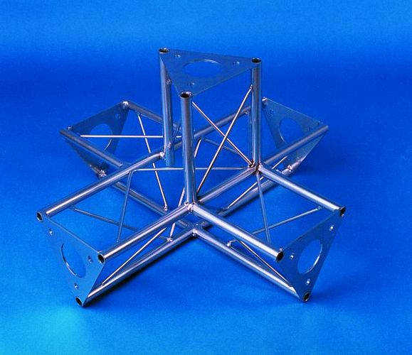 DECO-TRUSS 5-way piece SAT 51 silver, discoland.fi