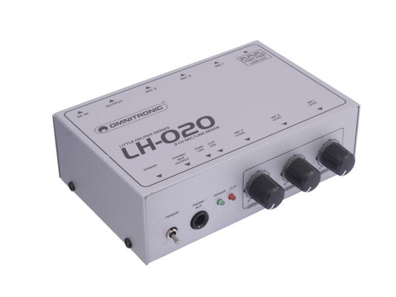 OMNITRONIC LH-020 Mikrofoni mikseri 3-ka, discoland.fi