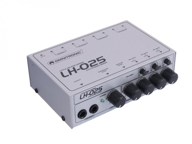 OMNITRONIC LH-025 Mini mikseri kolma ste, discoland.fi