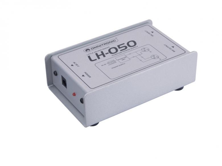 OMNITRONIC LH-050, phantom power adaptor, discoland.fi