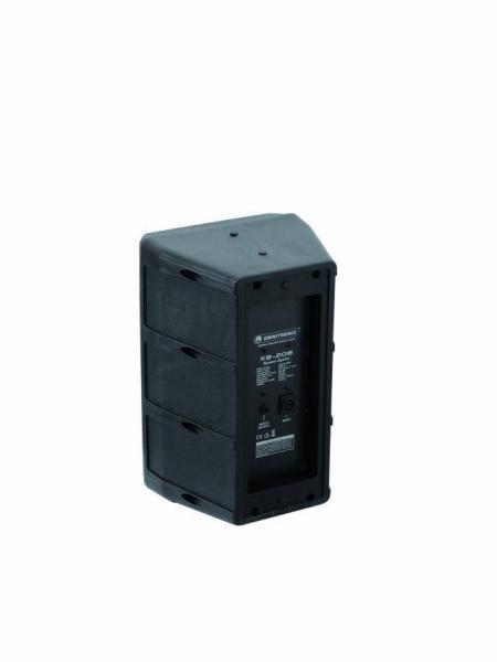 OMNITRONIC KB-208 Passiivi Kaiutin, Plastic-Cabinet 8 RMS 100W, Max. äänenpaine SPL 112dB. Kaiutin soveltuu loistavasti esimerkiksi Kotikaraoke sovelluksiin tai pientä äänentoistojärjestelmää kaipaavalle artistille, puhujalle tai tiskijukalle. mitat 400 x 277 x 257 mm, paino 6,5kg. Suositeltava vahvistinteho 100-150W 8ohm.