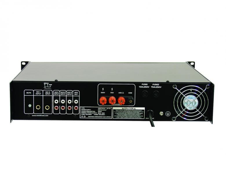 OMNITRONIC MP-180 100V PA Mikserivahvistin, pa-mixing-amplifier 180W RMS