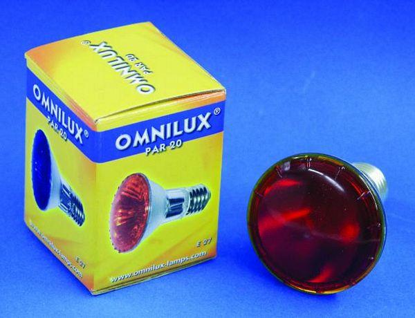 OMNILUX PAR-20 240V/75W E27 spot red, discoland.fi