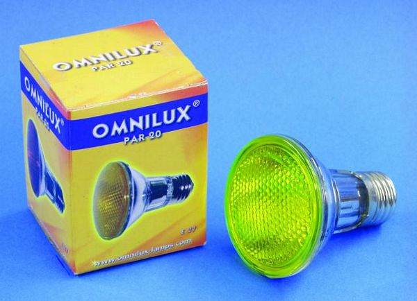 OMNILUX POISTUNUT.... TUOTE....PAR-20 240V/50W E27 flood yellow