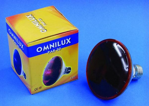 OMNILUX POISTUNUT.... TUOTE....PAR-30 240V/75W E27 flood red
