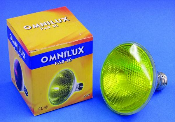 OMNILUX POISTUNUT.... TUOTE....PAR-30 240V/100W E27 flood yellow
