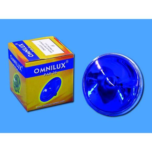OMNILUX PAR-36 sininen pinspot polttimo , discoland.fi