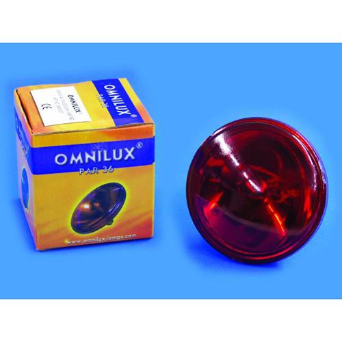 OMNILUX PAR-36 punainen pinspot polttimo, discoland.fi