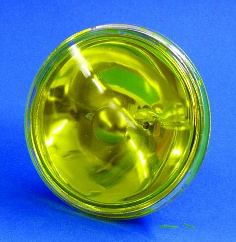 OMNILUX PAR-36 keltainen pinspot polttimo 30W 6,4V G53 VNSP. Käyttöikä 200h, valoteho 510Lm, keila erittäin kapea.