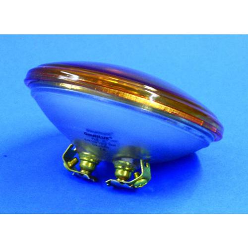 OMNILUX PAR-36 oranssi pinspot polttimo 30W 6,4V G53 VNSP. Käyttöikä 200h, valoteho 510Lm, keila erittäin kapea.