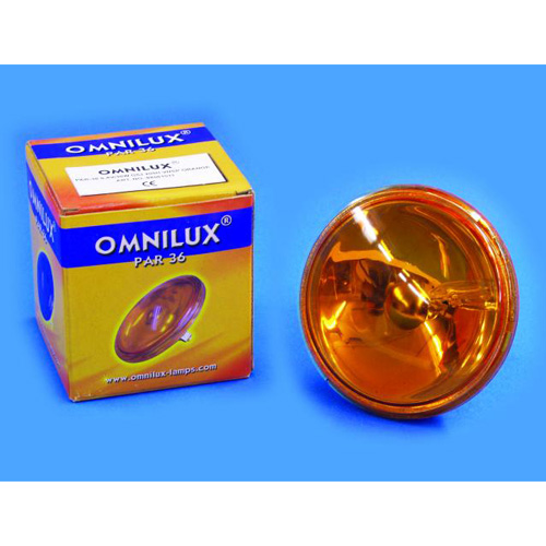 OMNILUX PAR-36 oranssi pinspot polttimo , discoland.fi