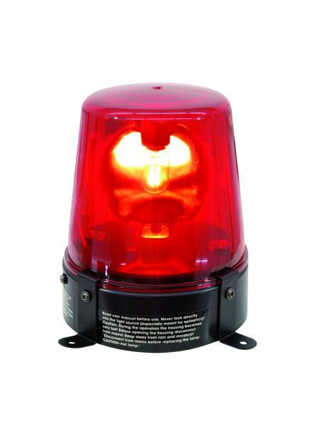 EUROLITE Poliisivalo Punainen, Police-light,DE-1, red, 230V/15W.Tämä on perinteinen poliisivalo efekti, yksinkertaisesti kytke sähköön ja laite on käyttökunnossa. Teho 15W, lamppu valmiiksi asennettu. Virtajohdon pituus 1,8 metriä. Mitat 135x 110x 145mm paino 1 kg.