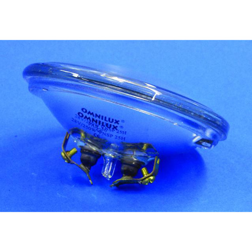 OMNILUX PAR-36 Pinspot polttimo 250W-28V-3000k, par 36 lamppu 25H käyttöiällä, erikoislamppu mm. mole, audience blinder.