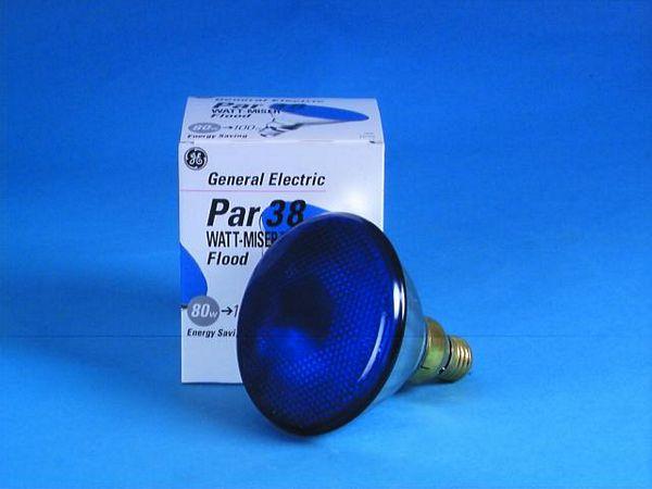 GE PAR-38 230V/80W E-27 FL blue, discoland.fi