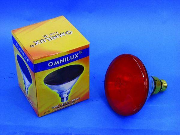 OMNILUX PAR-38 punainen polttimo Flood 3, discoland.fi