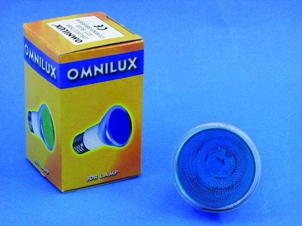 OMNILUX POISTUNUT.... TUOTE....JDR 230V/50W E-27 2000h blue
