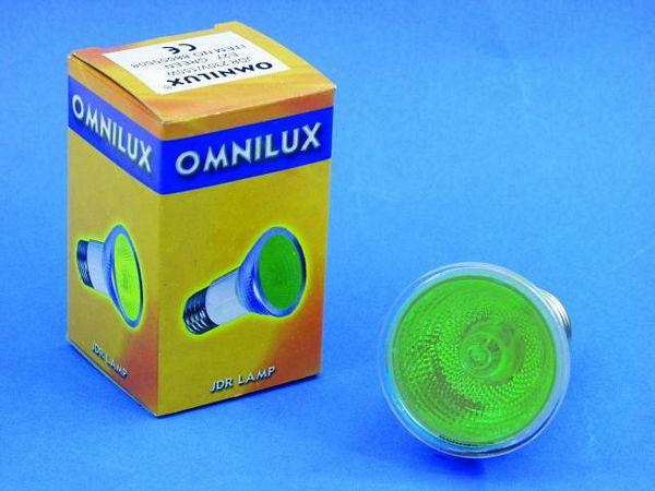 OMNILUX POISTUNUT.... TUOTE....JDR 230V/50W E-27 2000h green