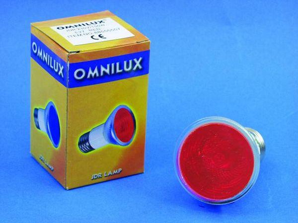 OMNILUX POISTUNUT.... TUOTE....JDR 230V/100W E-27 600h red