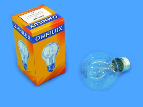 OMNILUX A19 230V/100W E27 klar, poistuva, discoland.fi