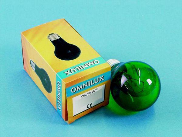 OMNILUX A19 25W E27-polttimo, vihreä 23, discoland.fi
