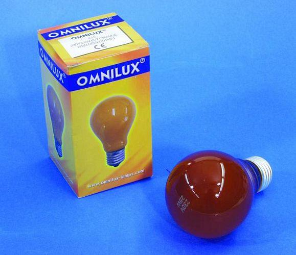 OMNILUX A19 25W E27-polttimo, oranssi, 2, discoland.fi