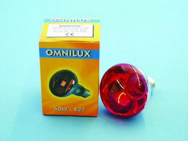 OMNILUX R80 230V/60W E-27 Red, Punainen,, discoland.fi