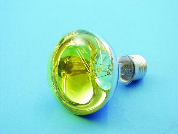 OMNILUX R80 230V/60W E-27 yellow, Voit käyttää normaalin hehkulampun tilalla!