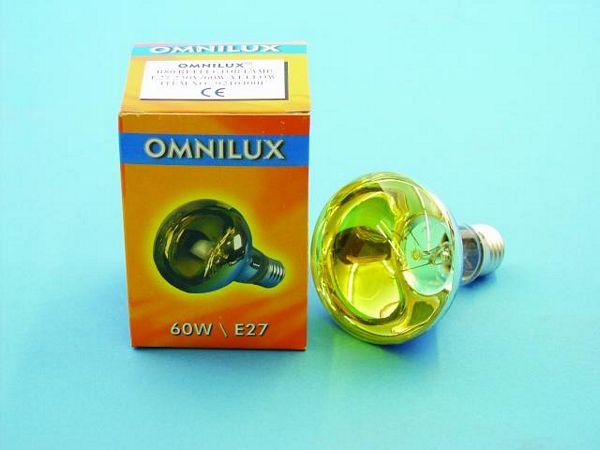 OMNILUX R80 230V/60W E-27 yellow, Voit k, discoland.fi