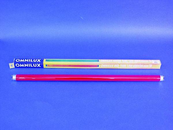 OMNILUX Punainen loisteputki 600mm 18W G, discoland.fi